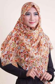 Shafeeya Kerudung Rawis Motif Anisah - Orange
