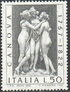 Italy 1972 The 150th Anniversary of the Death of Canova