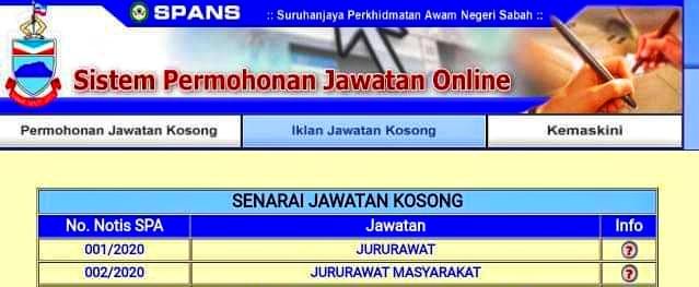 Iklan Jawatan Kosong Suruhanjaya Perkhidmatan Awam Sabah ...