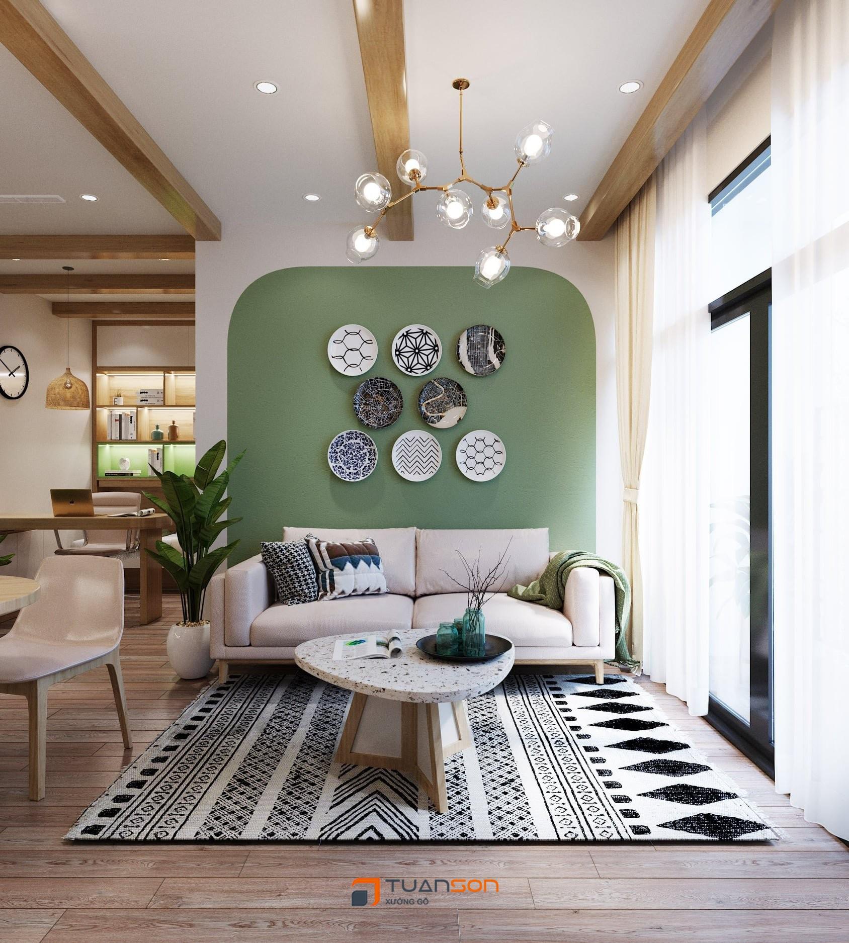 Hình ảnh thực tế nội thất căn hộ 1PN+1 (43m2) Vinhomes Ocean Park