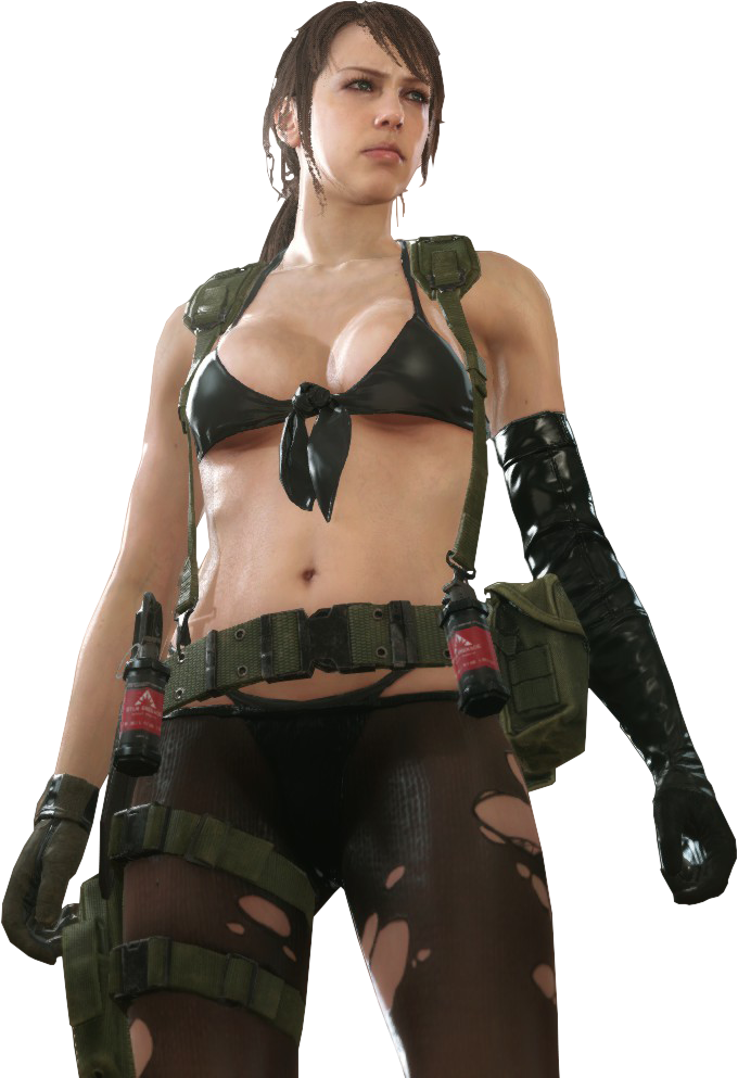 Metal Gear Solid V The Phantom Pain Quiet Render 2 BY  The-Blacklisted