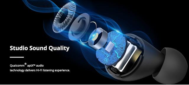 Tronsmart lança earbuds Onyx Free com esterilização UV contra Coronavirus