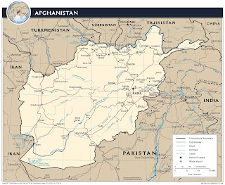 Picture of Afghanistan map in 2009