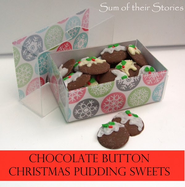 Christmas Pudding Chocolate Buttons