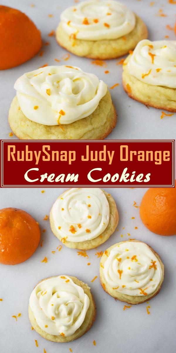 RubySnap Judy Orange Cream Cookies #cookiesrecipes
