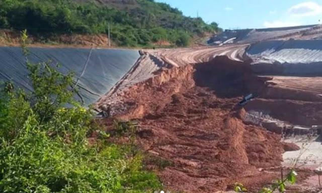 Jacobina: Rompimento em área de barragem da Yamana Gold assusta moradores