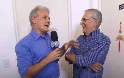 Ao lado de Carlos Alberto (Divulgação/SBT)
