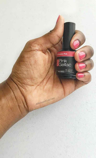 At home gel manicure with Pink Gellac | A Relaxed Gal