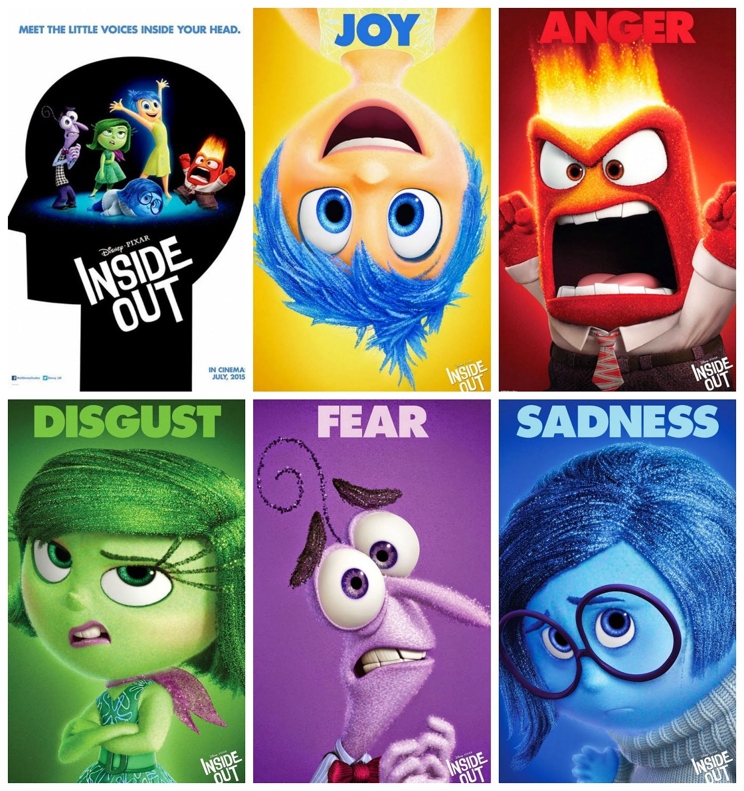 Inside Out 2015 Film: Character Posters Of Disney/Pixar's 'Inside Out' (2015