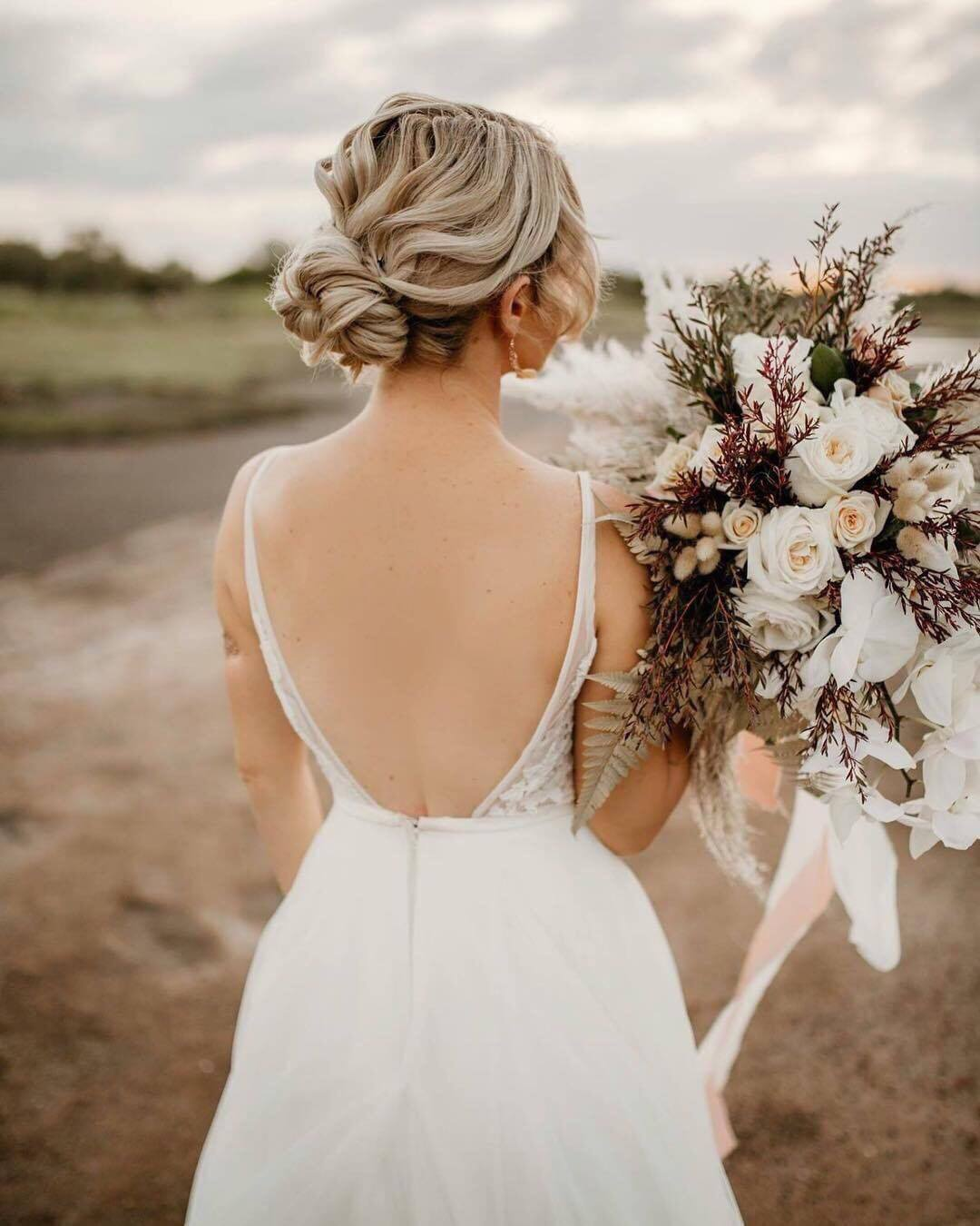 boho wedding hair townsville hunter and co photography hairstylist bridal