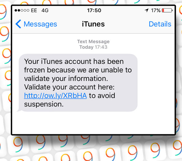 """Não abra esta mensagem de texto de """"Apple"""""""