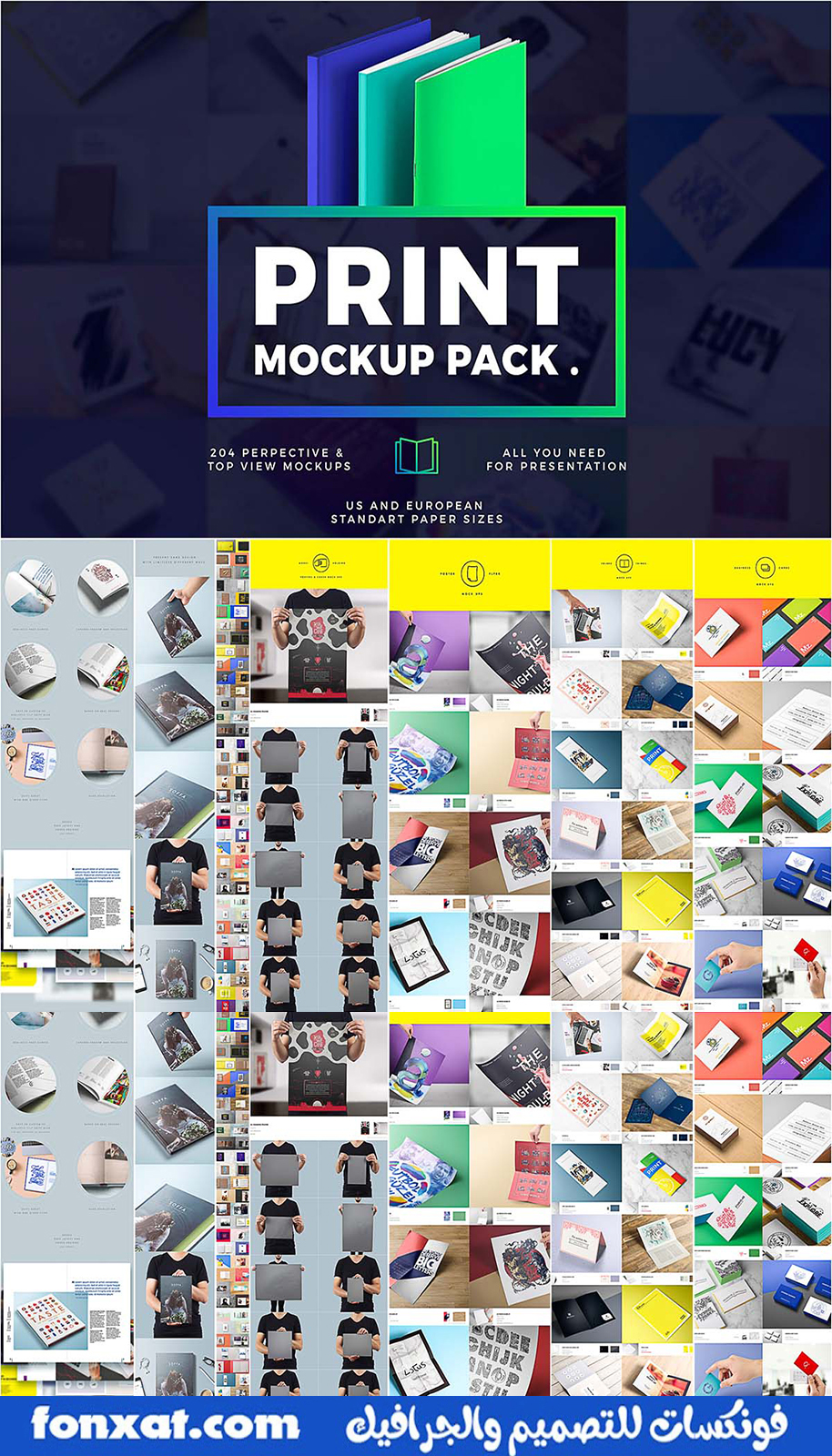 A large package of mockup files with a variety of magazines and designs