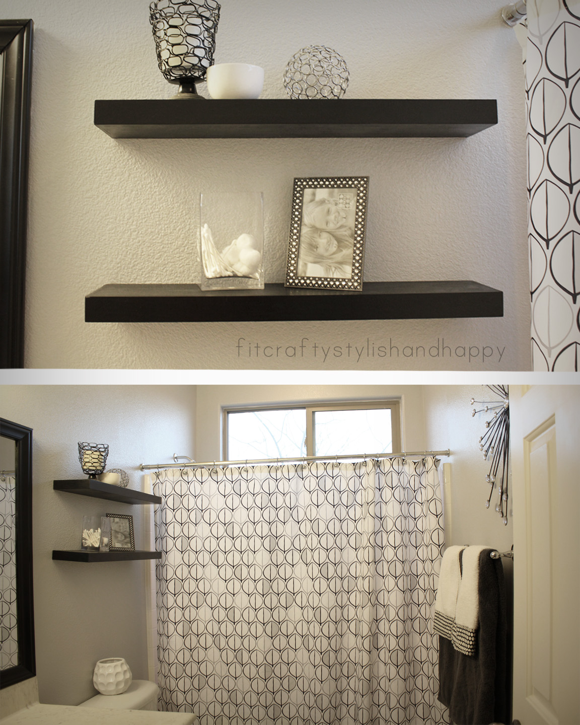 Grey And Chocolate Brown Bathroom | Bill House Plans