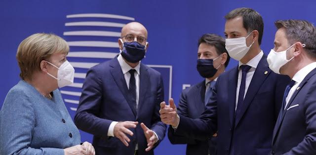 Σύνοδος Κορυφής: Σύσσωμοι οι ηγέτες της Ε.Ε. κατά της Τουρκίας