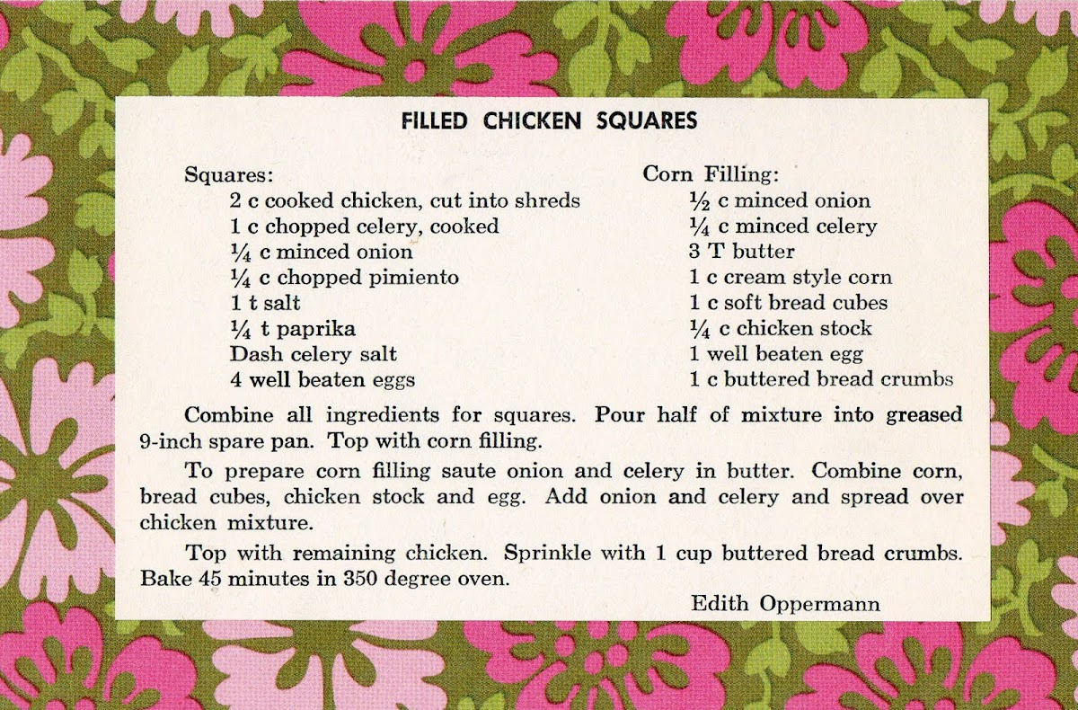 Filled Chicken Squares (quick recipe)