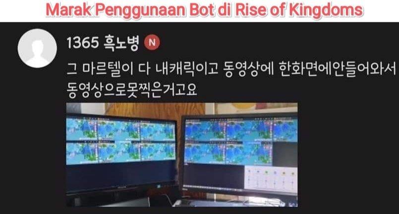 cheat dan bot di rise of kingdoms rok
