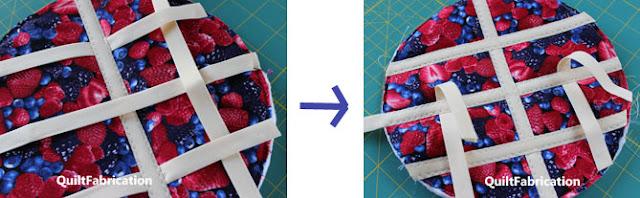 weaving lattice on a pie trivet