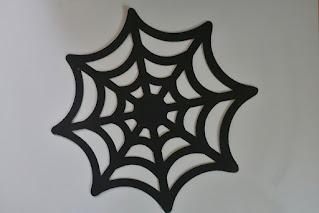Inspiracje na Halloween podkładka pajęczyna z dealz