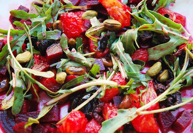 Salade betteraves-oranges-olives