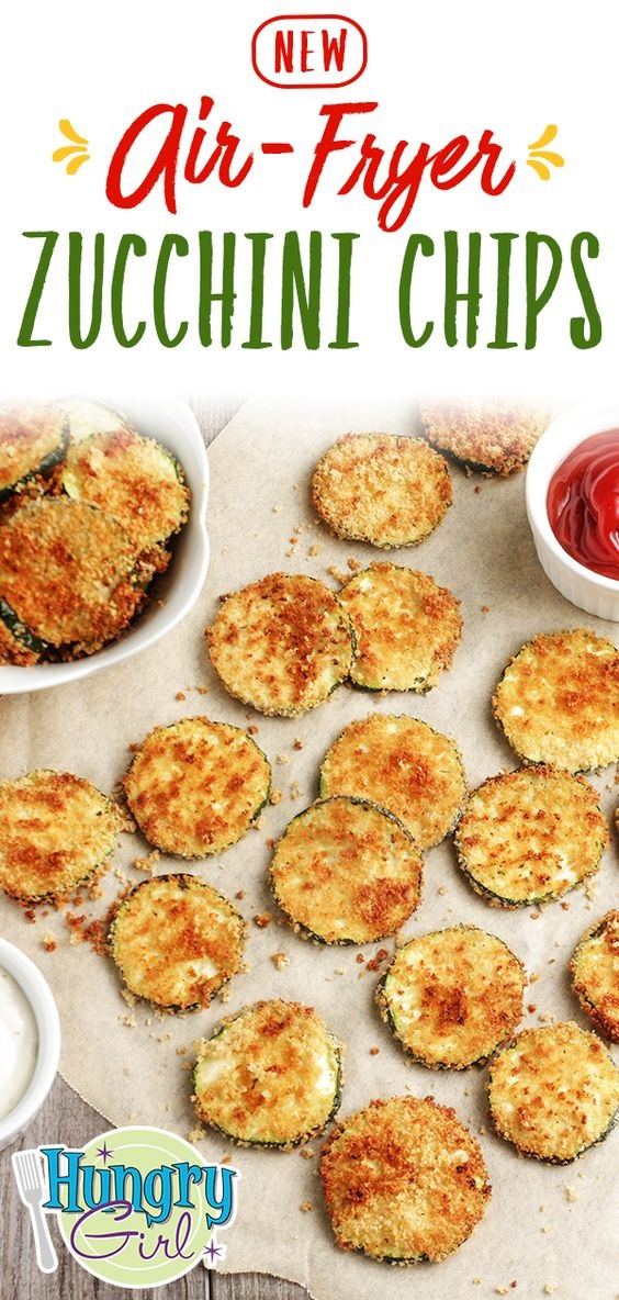 Air-Fried Ranch Zucchini Chips