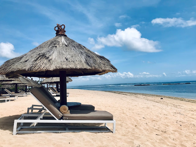 The beach at Sofitel Bali Nusa Dua Resort