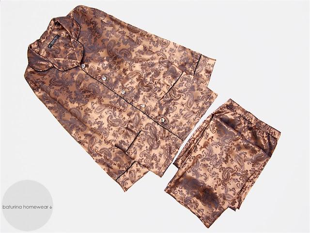 mens silk pajama bespoke tailored pajamas sets paisley pyjama gentleman vintage style buttoned long sleeve