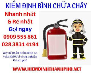 Báo giá kiểm định bình chữa cháy
