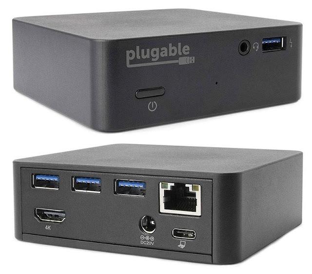 Plugable USB-C Mini Docking Station