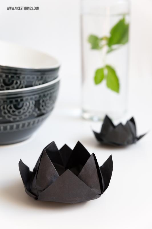 DIY Origami Lotus Lotusblüte #origami #lotus #papier #lotusblüte #falten