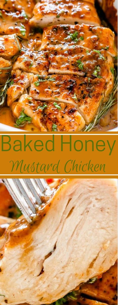Baked Honey Mustard Chicken #chicken #honey #breakfast #familyfood #easy