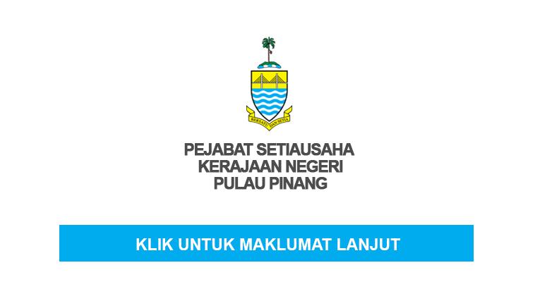 Jawatan Kosong di Pejabat SUK Negeri Pulau Pinang 2020