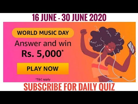 (SOLVED)AMAZON QUIZ  ANSWER WORLD MUSIC DAY