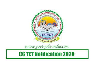 CGTET Notification 2020