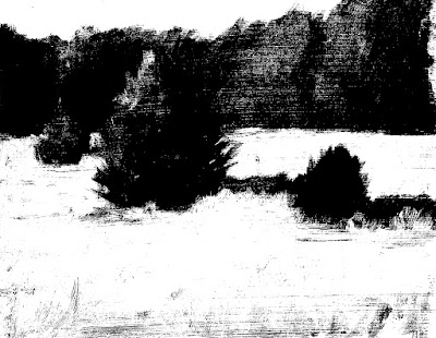 value study of park scene Jun 10 2019-notan conversion