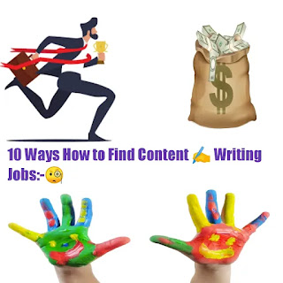 10 ways How to finding content writing jobs