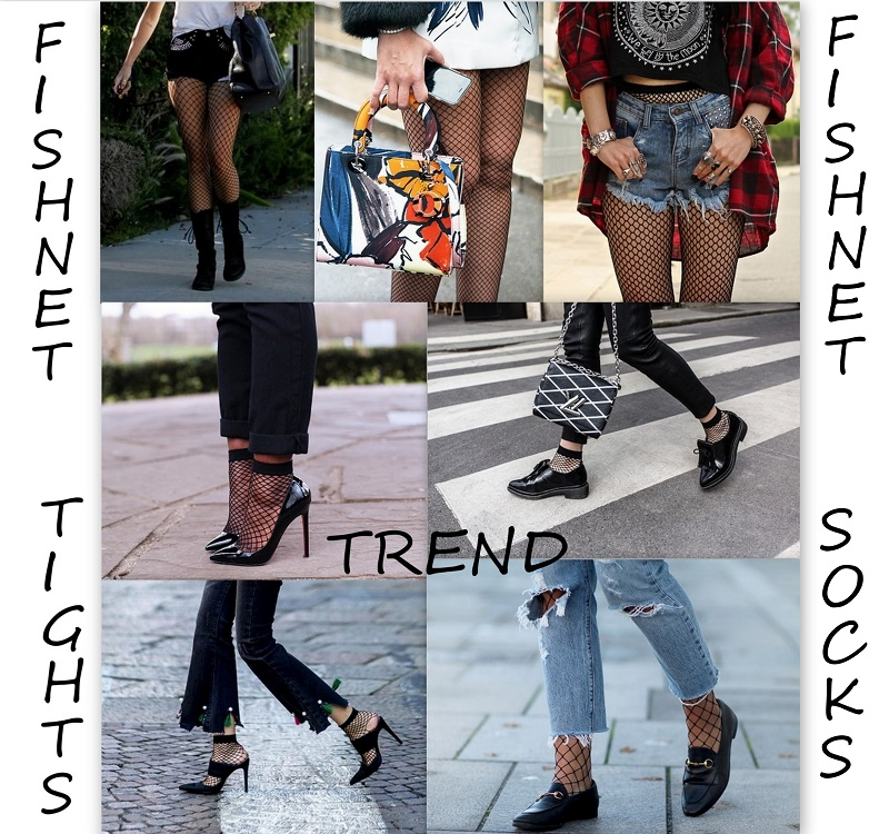 fishnet tights socks trend outfit