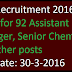 KMF Recruitment 2016 Apply for 92 Assistant Manager, Senior Chemist and other posts