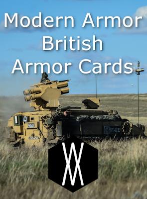 Modern Armor - British Armor Cards