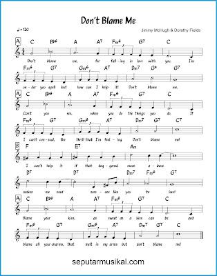 Don't Blame Me chords jazz standar