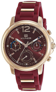 Tommy Hilfiger Analog Red Dial Women's Watch