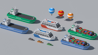 SimplePoly vehicles Low Poly Assets
