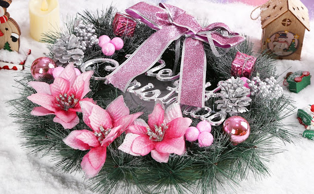 pink-and-silver-christmas-garland