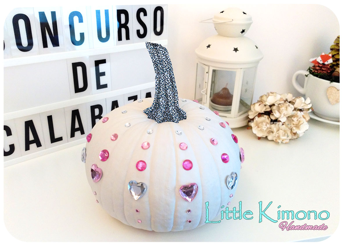 Calabaza Cenicienta decorada con adhesivos brillantes - Handbox ...