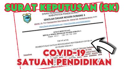 Download SK Covid-19 Satuan Pendidikan