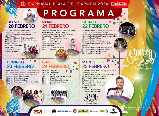 Carnaval Playa del Carmen 2020