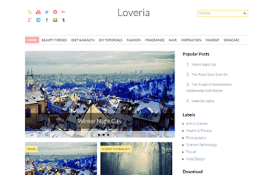 Loveria Blogger Template