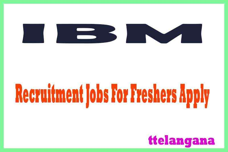 IBM Recruitment Jobs For Freshers Apply