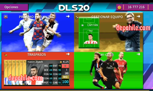 DLS 20 Atletico Madrid Yaması İndir Hileli ve Normal Kadro