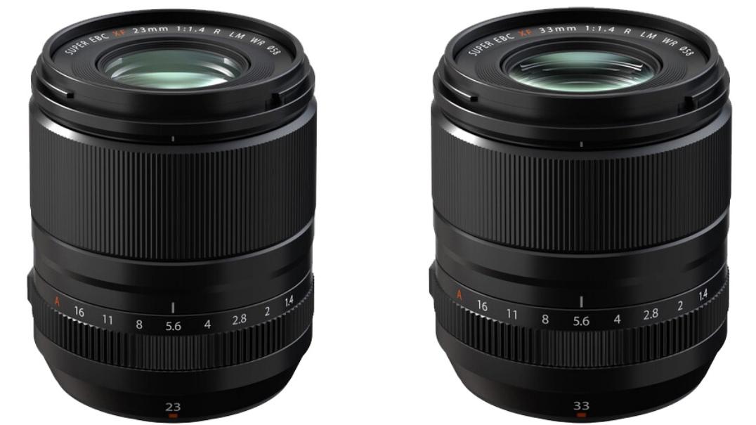 Два объектива Fujnon 23mm f/1.4 и 33mm f/1.4