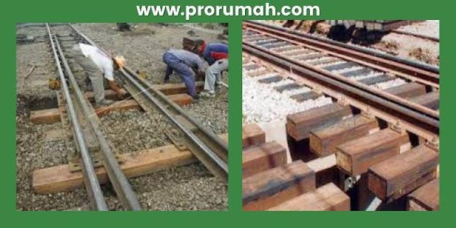 pemanfaatan kayu kempas - bantalan rel kereta